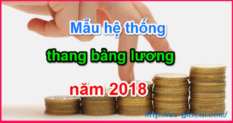 Mẫu hệ thống bảng lương 2018
