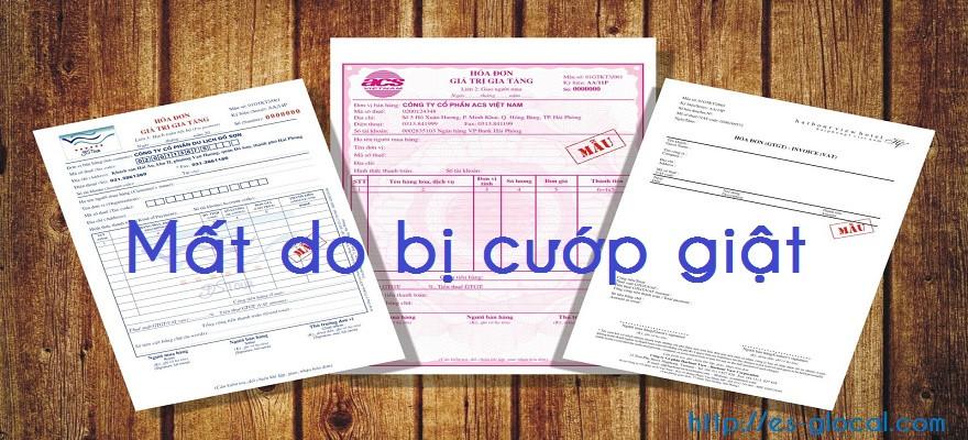 Mất hóa đơn do bị cướp giật có không bị xử phạt