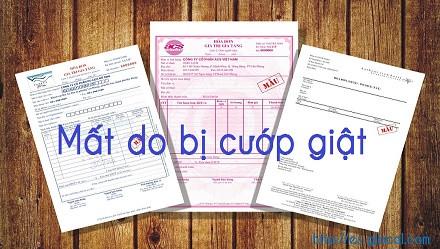 Mất hóa đơn do bị cướp giật có bị xử phạt không