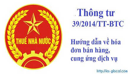 Thông tư 39/2014/TT-BTC ngày 31/3/2014 quy định về hóa đơn