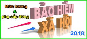 Các khoản tiền lương phải đóng BHXH năm 2018 gồm những khoản nào?