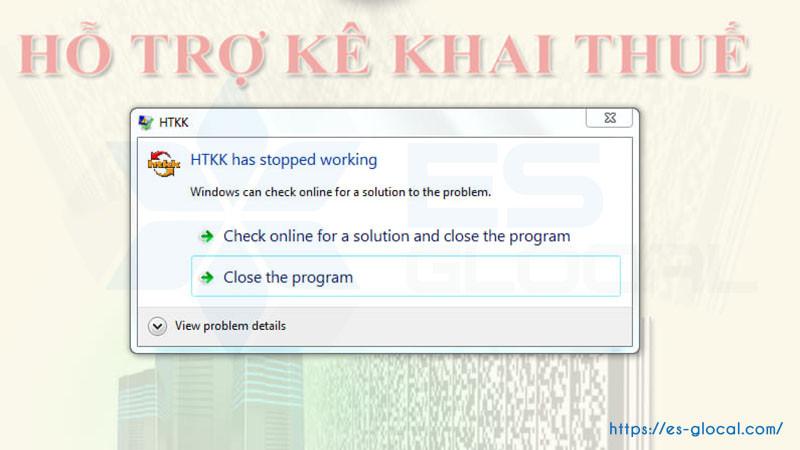 Màm hình hiện htkk has stopped working