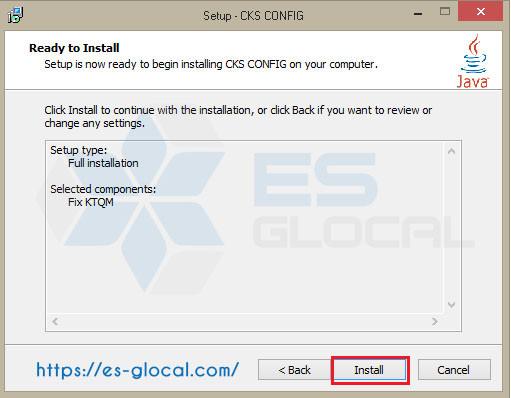 ấn install để cài đặt phần mèm Mở phần mềm khắc phục lỗi kê khai thu