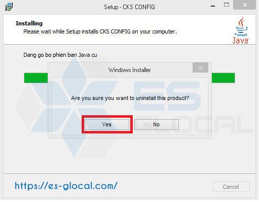 Gỡ bỏ java để tiến hành cài đặt phần mềm sửa lỗi đang tải thư viện
