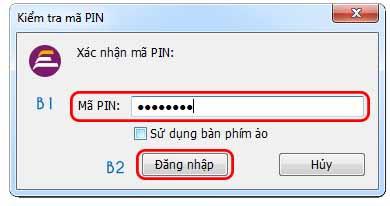 Gõ mật khẩu và chọn đăng nhập