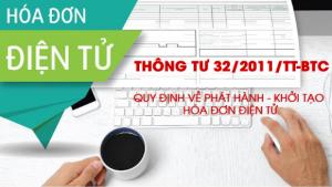 Thông tư 32/2011/TT-BTC hướng dẫn về hóa đơn điện tử