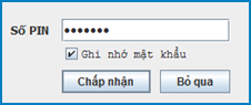 Nhập mã PIN để nộp tờ khai
