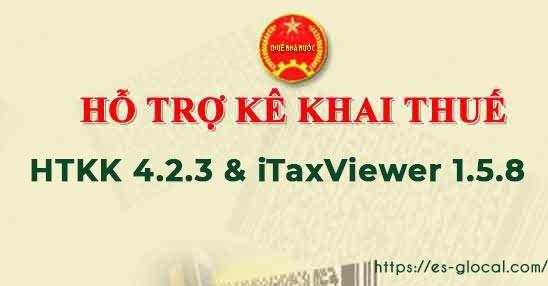 Phần mềm HTKK 4.2.3 và iTaxviewer 1.5.8 của Tổng cục thuế