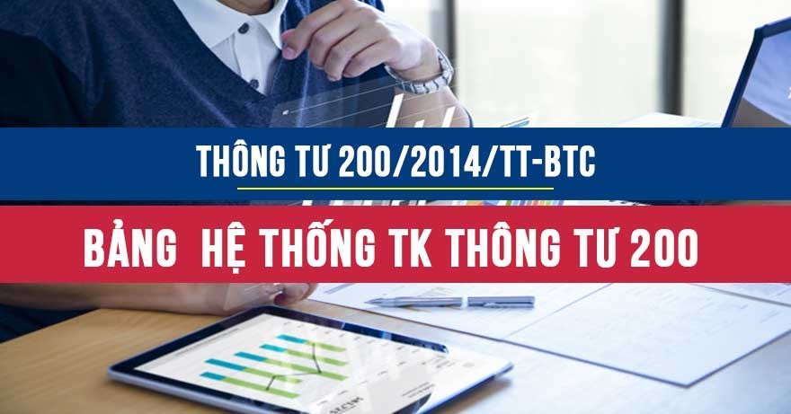 Hệ thống bảng tài khoản TT200