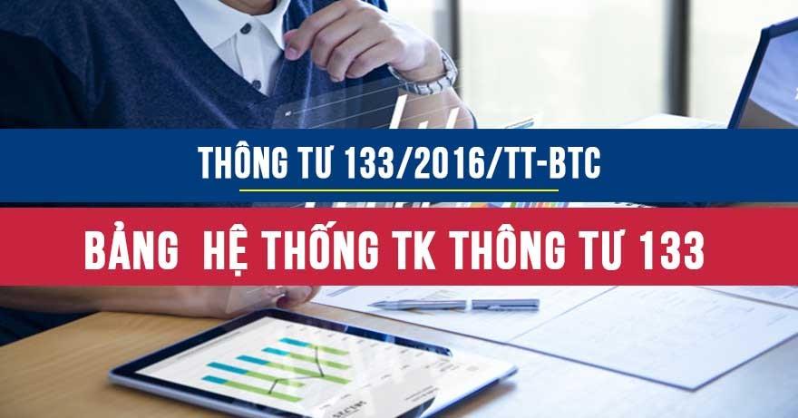 Hệ thống bảng tài khoản TT133
