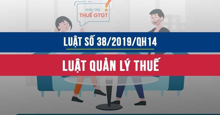 Luật số 38/2019/QH14 về Quản lý thuế