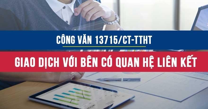Công văn 13715/CT-TTHT về giao dịch đối với các bên có mối quan hệ liên kết
