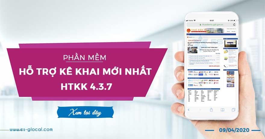 Cập nhật ứng dụng HTKK 4.3.7 phát hành ngày 09/04/2020 của TCT