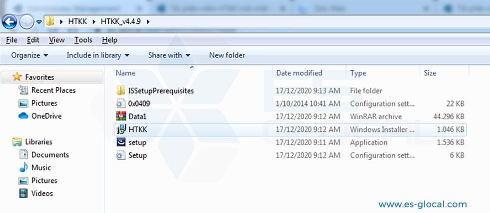 Chọn file cài đặt HTKK mới nhất 4.4.9