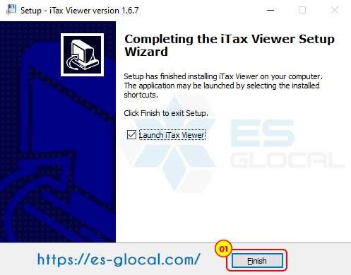 hoàn thành cài đặt phần mềm iTaxViewer