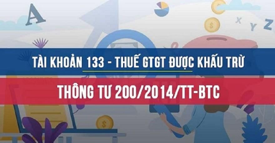 Tài khoản 133 - Thuế GTGT được khấu trừ