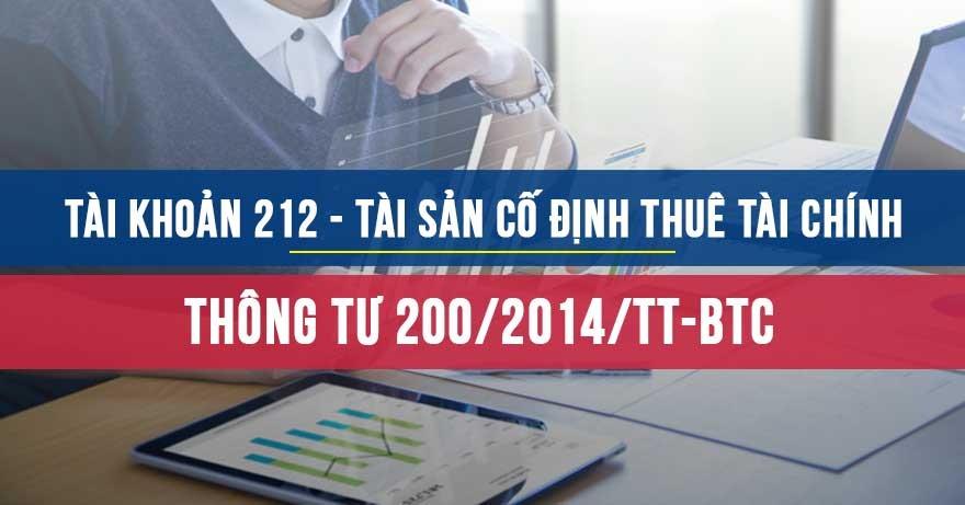Tài khoản 212 - Tài sản cố định thuê tài chính