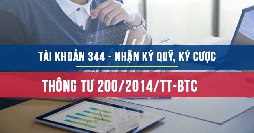 Tài khoản 344 theo Thông tư 200 năm 2014 của BTC