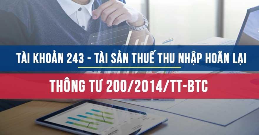 TK243 Theo TT200/2014/TT-BTC