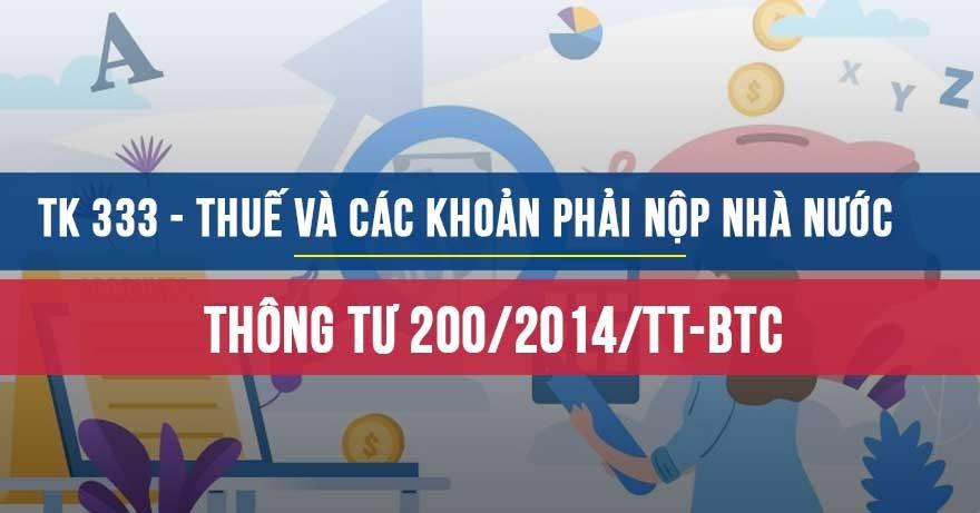 Tài khoản 333 theo thông tư 200/2014/TT-BTC