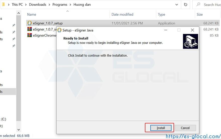 Hướng dẫn cài đặt eSigner java 1.0.7