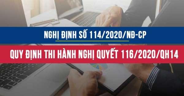 Nghị định 114/2020/NĐ-CP quy định chi tiết thi hành Nghị quyết số 116/2020/QH14
