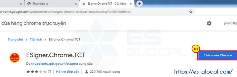 Thêm ứng dụng vào Chrome