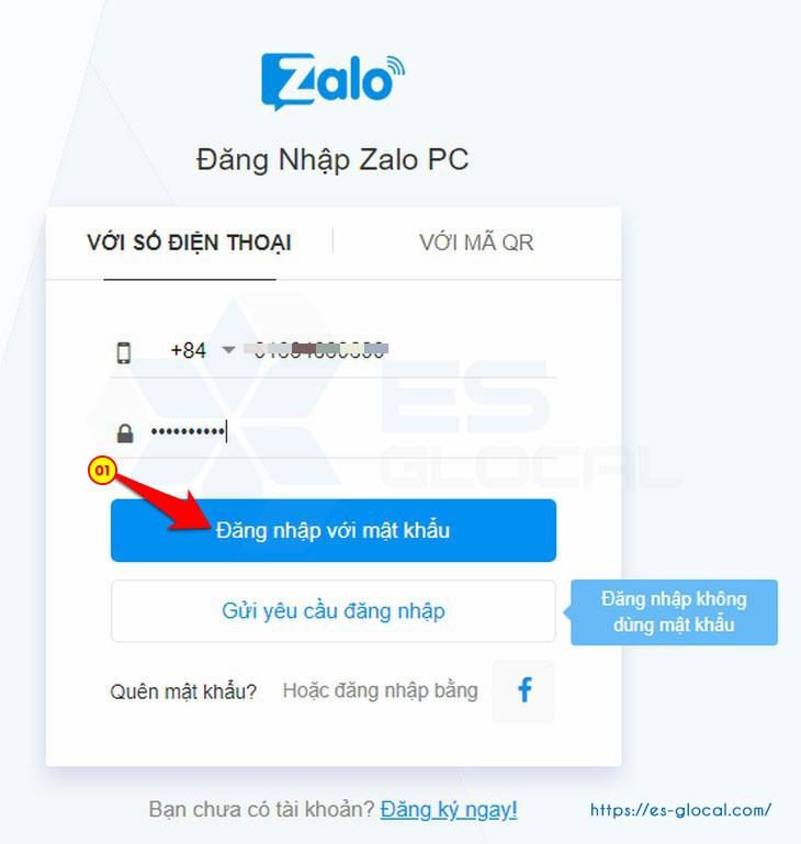 Cách đăng nhập tài khoản zalo pc bằng tài khoản, mật khẩu đăng nhập