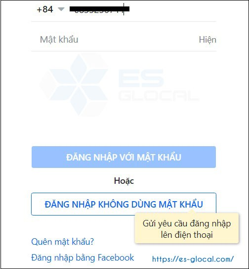 Gõ số điện thoại cần đăng nhập tài khoản zalo