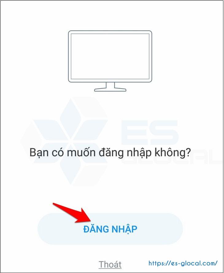 Hiển thị cảnh báo đăng nhập zalo webiste ở thiết bị di động