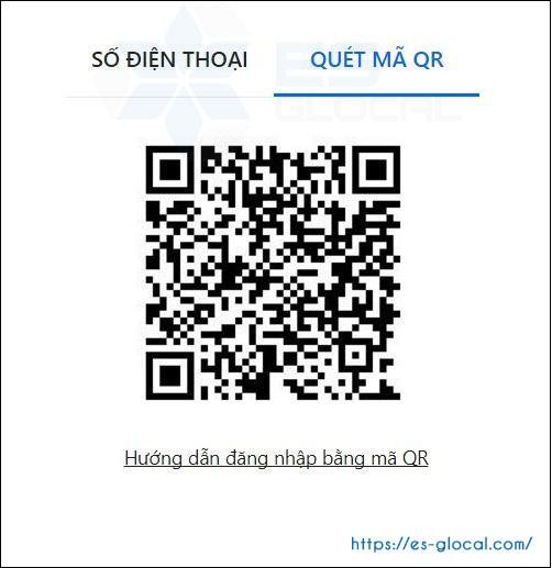 Quét mã QR code để đăng nhập tài khoản zalo on web