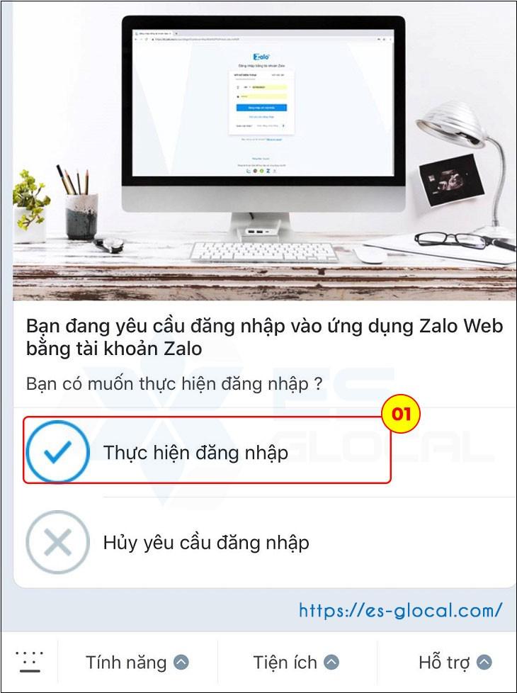 Thực hiện đăng nhập zalo trên web không cần dùng mật khẩu