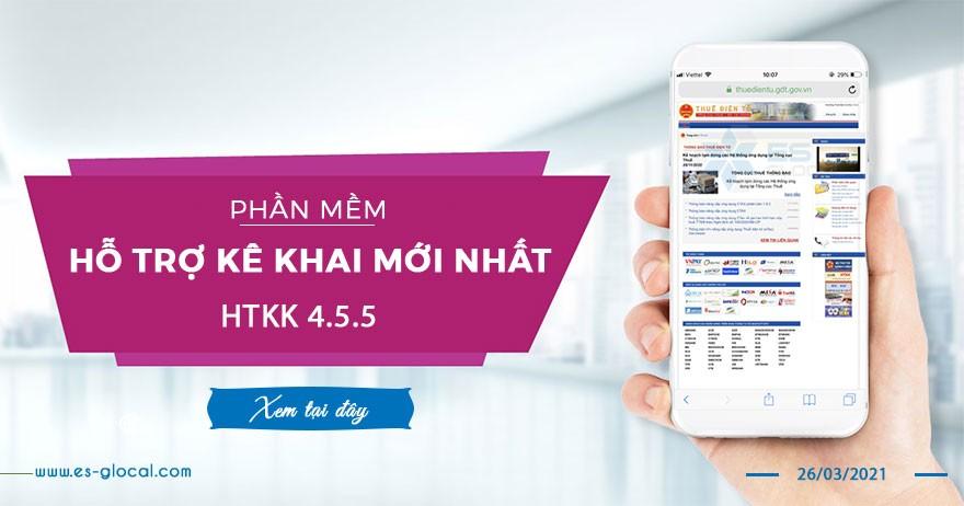HTKK v4.5.5 của TCT, HTKK 4.5.5 mới nhất có hiệu lực 26/06