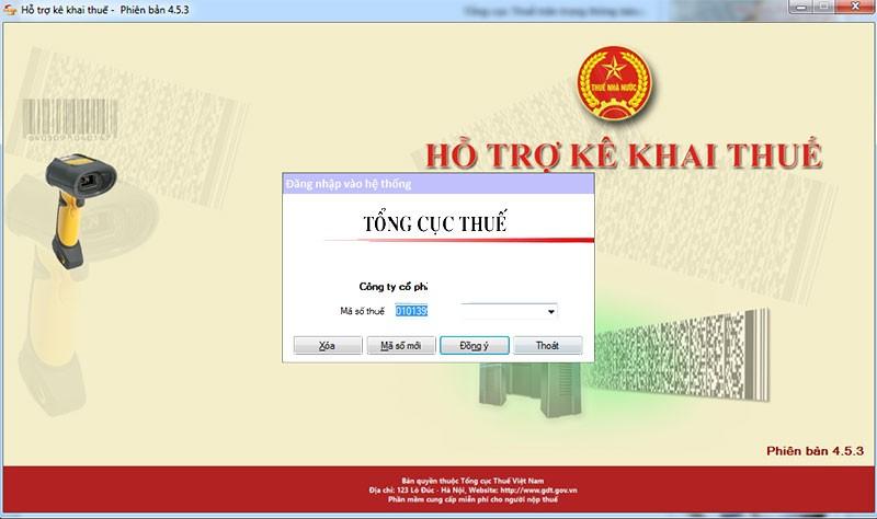 Phần mềm HTKK 4.5.3 mới nhất của TCT