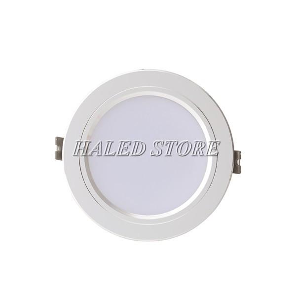 Đèn LED âm trần HLRD AT10 ĐM VB 90-7 viền bạc
