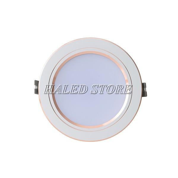 Đèn LED âm trần HLRD AT10 ĐM VV 110-9 viền vàng