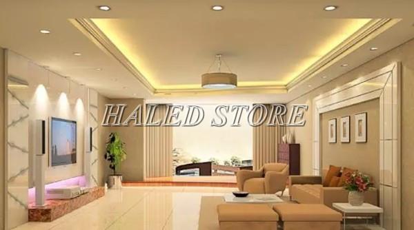 Đèn LED âm trần HLRD AT10 ĐM VV 90-7 chiếu sáng khách sạn