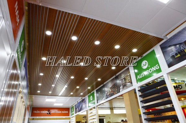 Đèn LED âm trần HLRD AT10 ĐM 60-3 chiếu sáng cửa hàng