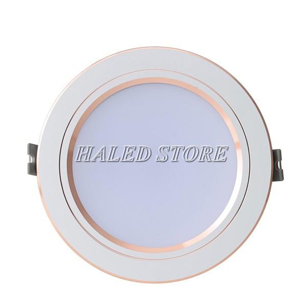 Đèn LED âm trần HLRD AT10 ĐM VV 90-9 viền vàng