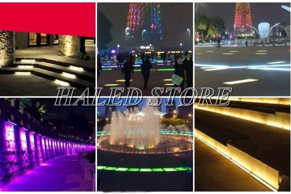 Ứng dụng chiếu sáng của đèn LED âm đất HLDAUG3-24 RGB
