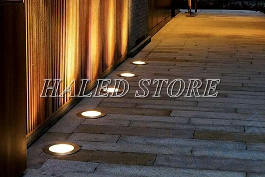 Ứng dụng chiếu sáng của đèn LED âm đất HLDAUG1-18
