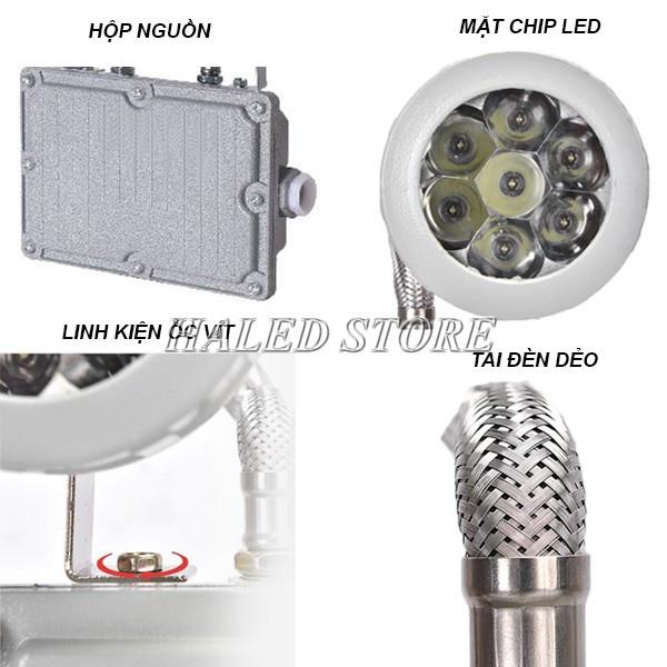 Cấu tạo của đèn LED chống cháy nổ khẩn cấp HLDAEP KC1-3