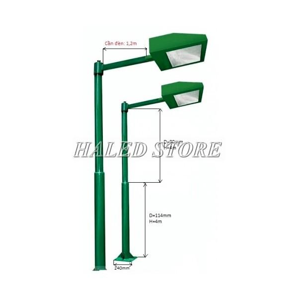 Cột đèn sân tennis 7m cần đơn