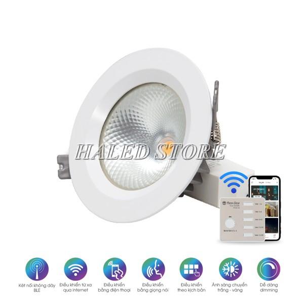 Đèn LED âm trần HLRD AT14.BLE 90-9 sử dụng điều khiển bằng smartphone