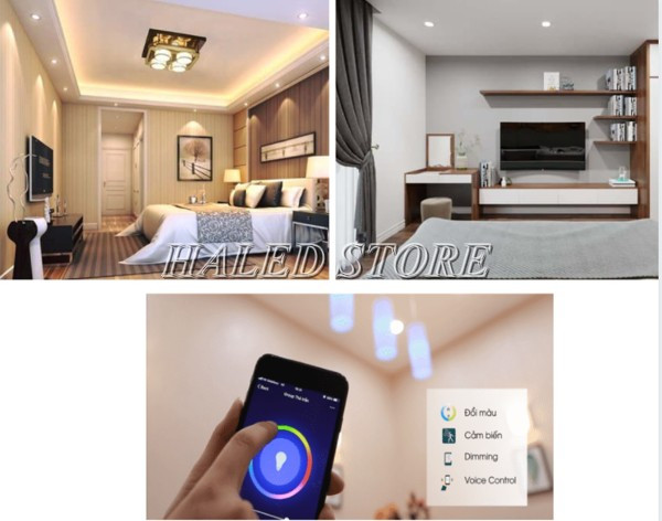 Một số ứng dụng đèn LED âm trần HLRD AT14.BLE 90-9 3