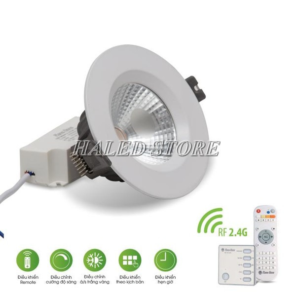Đèn LED âm trần HLRD D AT14L 90.RF-9 sử dụng điều khiển từ xa