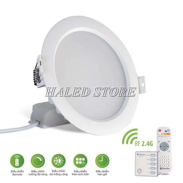 Đèn LED âm trần HLRD D AT16L 110.RF-9 sử dụng điều khiển từ xa