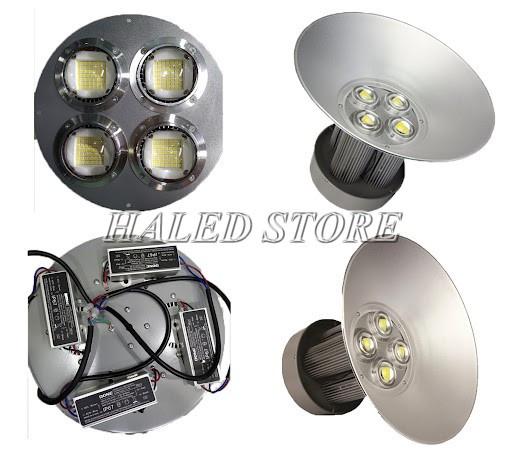Mẫu đèn LED cao áp 200w nhà xưởng Rạng Đông sâu lòng