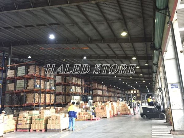 Ứng dụng của đèn LED Highbay 100w Duhal chiếu sáng nhà xưởng