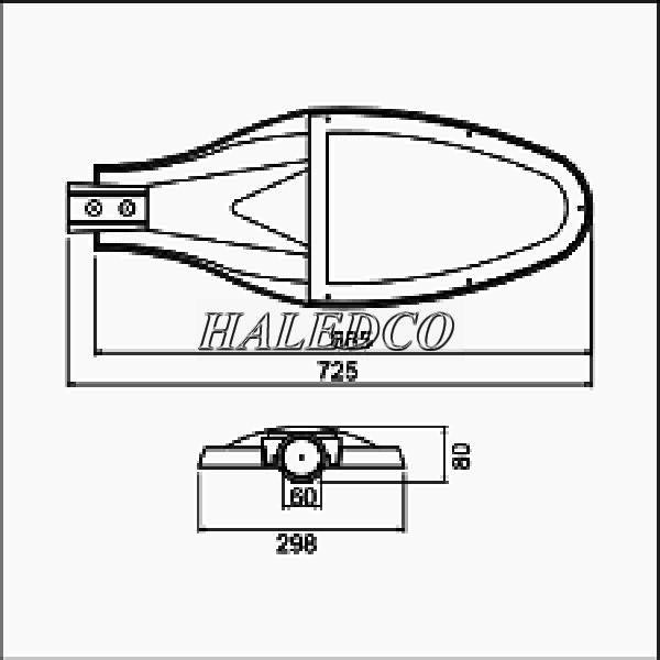 Bản vẽ đèn đường LED PRDA PSTL120L-120
